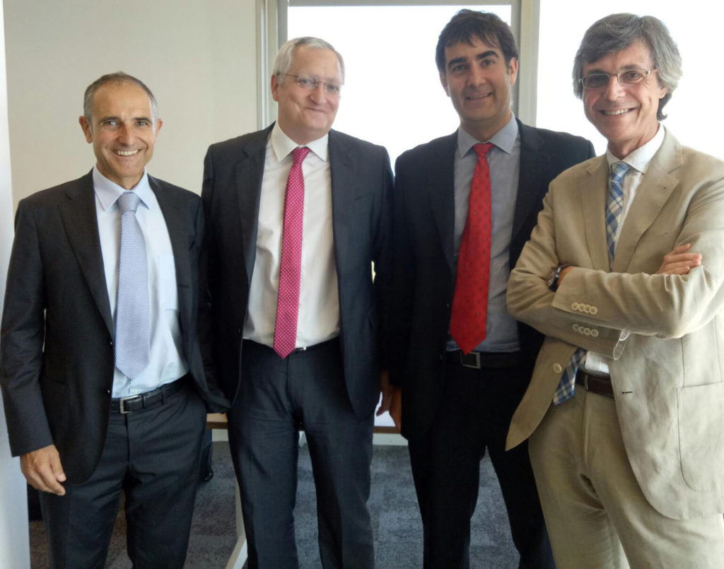 De izquierda a derecha: Marcel Miró - Managing director de PBS, Juan Pérez - Product Manager SAP España, Jordi Pascual - IT Consultant - SAP Certified Application Associate, Albert Tur - Account Manager.